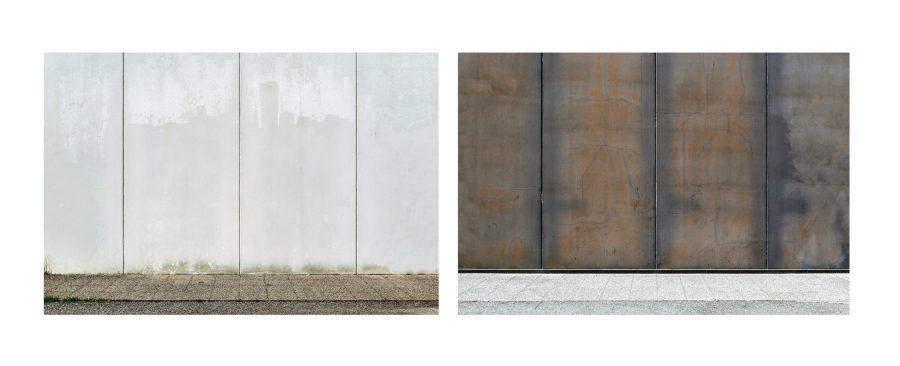 """Installazione, Spazio #1710 e Spazio #1708, 2020. Serie """"C'è SPAZIO per tutti"""". Fotografie digitali, stampe Fine art realizzate da Stefano Ciol, 50 x 75cm each."""