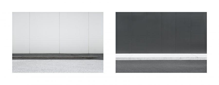 """Installazione, Spazio #9314 e Spazio #9777, 2019. Serie """"C'è SPAZIO per tutti"""". Fotografie digitali, stampe Fine art realizzate da Stefano Ciol, 50 x 75cm each"""
